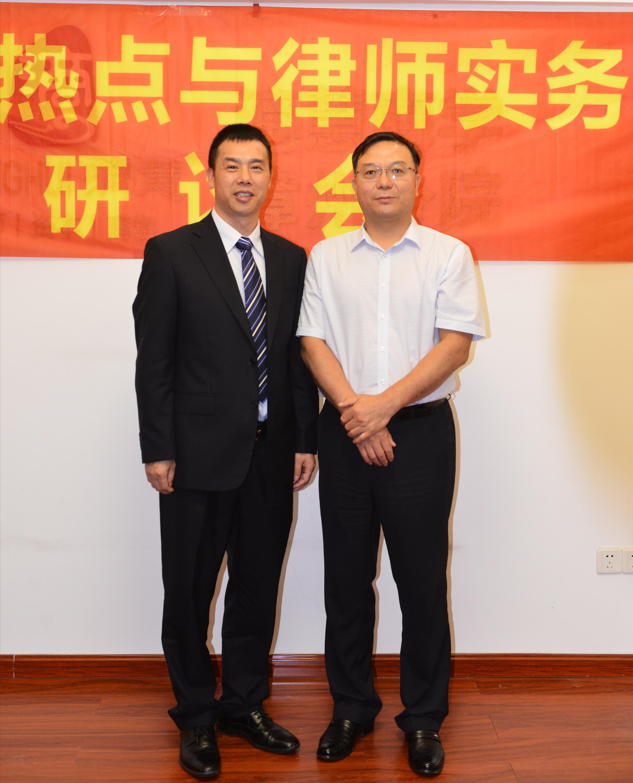 與師父楊照東律師在漳州研讨